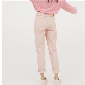 H&M pink boyfriend jeans